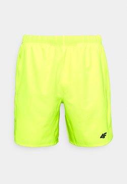 4F - HERREN FULGENZIO - Pantalón corto de deporte - neon yellow