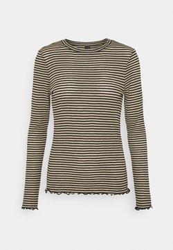 Vero Moda - VMOLINE - Langarmshirt - travertine/black
