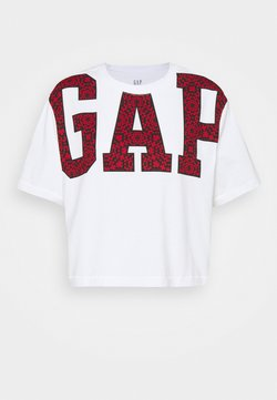GAP - BOXY CROP TEE - Camiseta estampada - white
