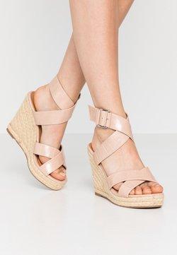 ONLY SHOES - ONLAMELIA WRAP  - Sandalias de tacón - nude
