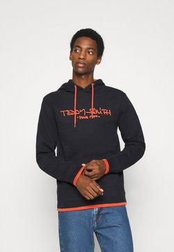 Teddy Smith - SICLASS - Hoodie - dark navy/red orange