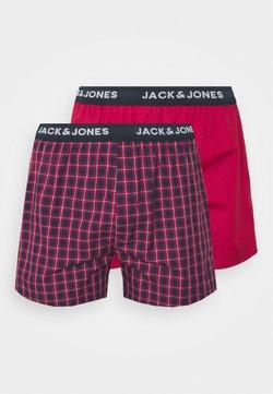 Jack & Jones - CHECK TRUNKS 2 PACK - Boxershorts - red bud/red bud