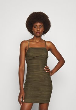 Missguided Tall - RUCHED DRESS - Cocktailklänning - brown