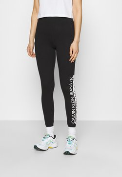 Calvin Klein Jeans - MIRRORED LOGO - Legging - black