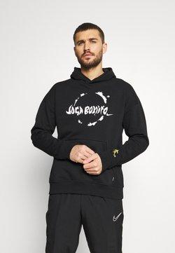 Nike Performance - FC HOODIE - Sweatshirt - black/white/saturn gold