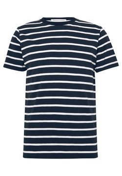 BY GARMENT MAKERS - THE ORGANIC MULTISTRIPED TEE - Print T-shirt - blue