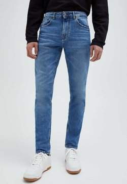 PULL&BEAR - Jean slim - mottled blue
