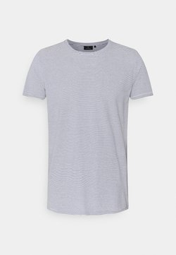 recolution - CASUAL STRIPES - T-Shirt print - navy/white