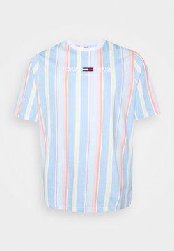 Tommy Jeans Plus - STRIPE TEE - T-Shirt print - light powdery blue
