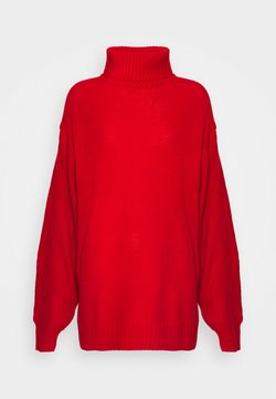Missguided Tall - ROLL NECK CABLE SLEEVE JUMPER - Maglione - red