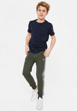 WE Fashion - WE FASHION JONGENS JOGGINGBROEK MET TAPEDETAIL - Trainingsbroek - army green