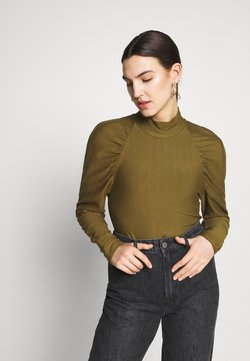 Gestuz - RIFA TURTLENECK - Sweater - dark olive
