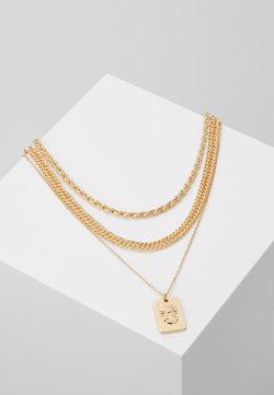 Pieces - PCMULA COMBI NECKLACE - Halskæder - gold coloured