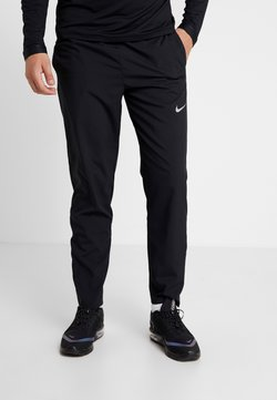 Nike Performance - RUN STRIPE PANT - Pantalones deportivos - black/silver