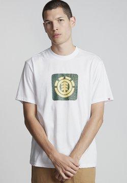 Element - LEOPARD BLOCK ICON - T-shirt imprimé - optic white
