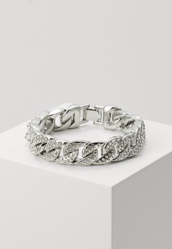 Urban Classics - BIG BRACELET WITH STONES - Rannekoru - silver-coloured