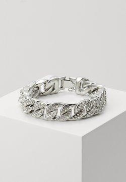 Urban Classics - BIG BRACELET WITH STONES - Bracelet - silver-coloured