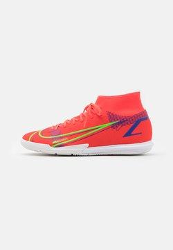 Nike Performance - MERCURIAL 8 ACADEMY IC - Zaalvoetbalschoenen - bright crimson/metallic silver