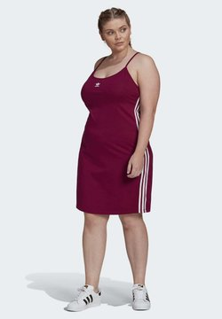 adidas Originals - SPAGHETTI STRAP DRESS (PLUS SIZE) - Urheilumekko - burgundy