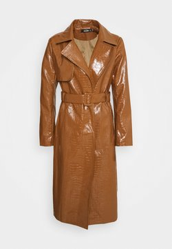 Missguided - CROC BELTED MAXI - Trenchcoat - tan