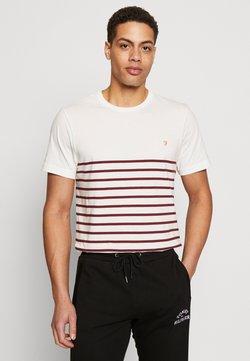 Farah - COOK STRIPED TEE - T-shirt print - dark red