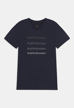 Peak Performance - GROUND TEE UNISEX - T-shirt med print - blue shadow