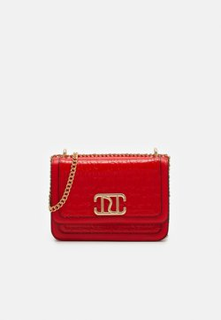 River Island - DOUBLE BAG SATCHEL - Across body bag - red