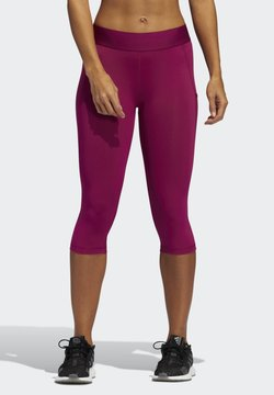 adidas Performance - ALPHASKIN LEGGINGS - Pantalón 3/4 de deporte - purple