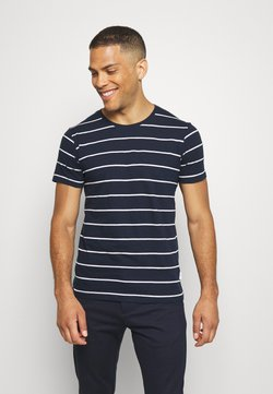 Lindbergh - STRIPED SLUB TEE - T-shirt imprimé - dark blue