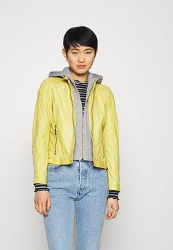 Gipsy - ABBY - Veste en cuir - pastel yellow