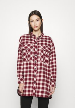 Topshop - CAUSAL OVERSIZE CHECK - Camicia - red