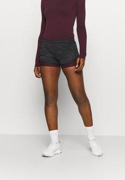 Salomon - AGILE 2IN1 SHORT  - Shorts - black/winetasting
