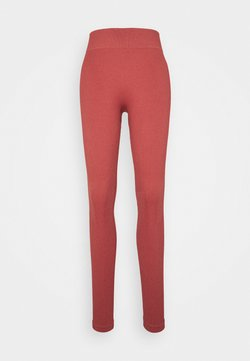 South Beach - SEAMLESS HIGH WAIST LEGGING - Medias - cocoa