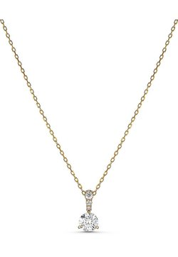 Swarovski - SOLITAIRE PENDANT, WHITE, GOLD-TONE PLATED - Collana - gelbgold
