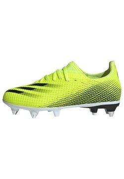 adidas Performance - X GHOSTED.3 SG FUTBALLSCHUH - Tekonurmikengät - yellow