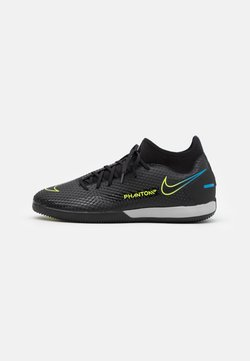 Nike Performance - PHANTOM GT ACADEMY DF IC - Indoor football boots - black/cyber/light photo blue
