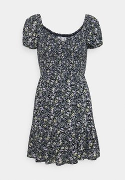 Hollister Co. - CHAIN SHORT DRESS - Freizeitkleid - navy pattern