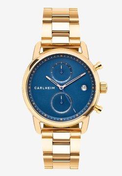 Carlheim - Rannekello ajanottotoiminnolla - rose gold/blue
