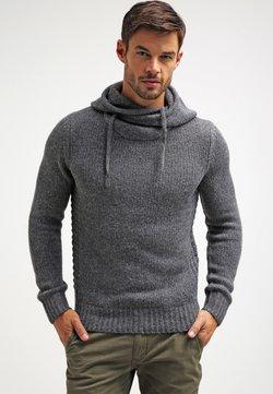 Pier One - Jersey con capucha - dark grey melange