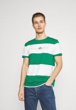 GANT - FLAG CREST - T-Shirt print - lush green