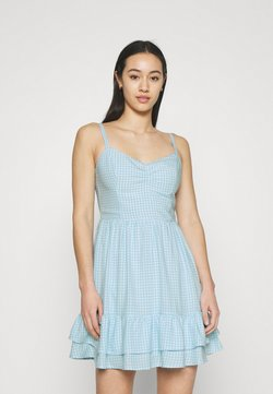 Hollister Co. - BARE SHORT DRESS  - Freizeitkleid - light blue