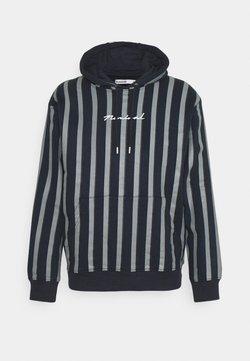 Nominal - FINLEY STRIPE HOODIE - Sweatshirt - navy