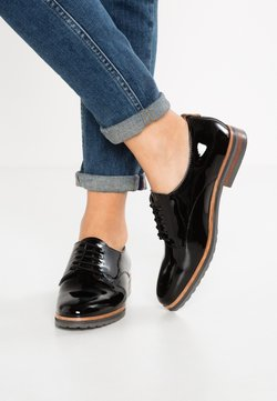 Anna Field - LEATHER FLAT SHOES - Derbies - black