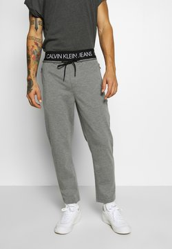 Calvin Klein Jeans - EXPOSED WAISTBAND MILANO PANT - Jogginghose - mid grey heather