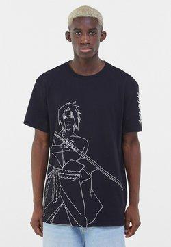 Bershka - NARUTO - T-shirt con stampa - black