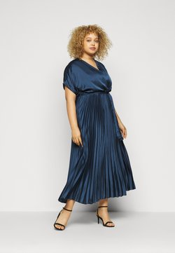 New Look Curves - GO PLEATED - Cocktailjurk - navy