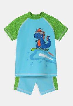 Playshoes - UV-SCHUTZ DINO SET - Surfshirt - blau/grün