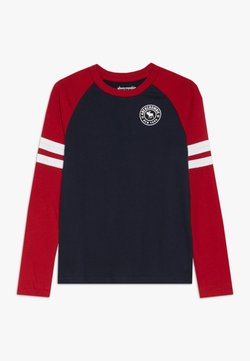Abercrombie & Fitch - FOOTBALL TEE - Langarmshirt - navy/red