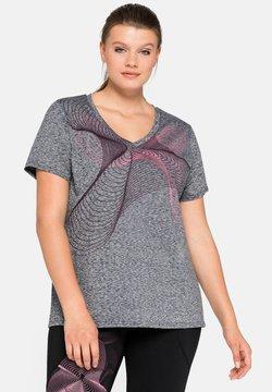 Sheego - T-Shirt print - grau meliert