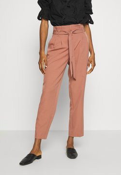 New Look - MILLER PAPERBAG TROUSER - Chinot - mid pink